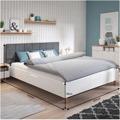 Manželská postel s roštem 180x200 čalouněná bílá a šedá TK3136 (720853) - 4