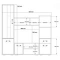 Obývací stěna v moderní kombinaci barev wenge a bílé KN479 (484386) - 2