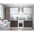 Kuchyňská linka 180 cm v kombinaci bílý lesk a wenge KN390 (787914) - 1