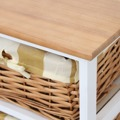 Komoda, 10 košíků, bílá / medový, GINGER 2 (359500) - 3