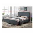 Manželská postel 160x200 cm s roštem tmavě šedá látka TK3015 (531402) - 2