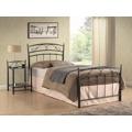 Kovová postel 90x200 cm v černé barvě s roštem KN749 (351182) - 1