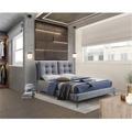 Manželská čalouněná postel s roštem 160x200 šedá TK3134 (720941) - 1