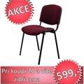 Konferenční židle v jednoduchém moderním provedení bordó ISO NEW (353439) - 2