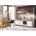 Moderní kuchyňská linka v kombinaci hnědé a béžové barvy F1015 (396881) - 1
