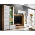 Moderní obývací stěna v barvě bílé a dekoru dub wotan KN322 (447902) - 1