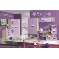 Dětský dřevěný kontejner v dekoru dub kremona a lavenda ve fialové barvě typ G11 KN083 (367458) - 3