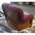 Luxusní pohovka - dvojsedák ROMA v kombinaci dřevo a fialová látka - AKCE (481060) - 7