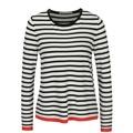 Bílo-černý pruhovaný lehký svetr ONLY Suzana (665969) - 1
