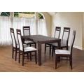 Set 3 - 6x židle, stůl, rozkládací (wenge/madryt 120/buk) (686564) - 1