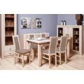Aga - Set 6x židle, 1x stůl + rozklad (sonoma/lana 26) (686654) - 1