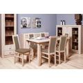 Jídelní set AGA - 6x židle, 1x rozkládací stůl (sonoma/eko kůže) (686668) - 1