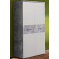 Skříň Winnie S92, šedý beton/bílá (841957) - 1
