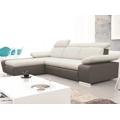 Rohová sedací souprava Odessa OTM-2F, šedá ekokůže/melírovaná tkanina (807225) - 1