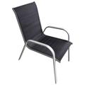 Zahradní židle Caspian, černá (697919) - 1