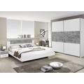 Sestava ložnice Marburg, bílá/šedý beton (841245) - 1