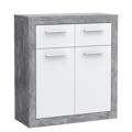 Komoda Baccio 221, beton/bílá (841960) - 1