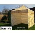 Zahradní párty stan PROFI STEEL 3 x 6 - žluto-bílá (876814) - 1