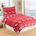 Mikroplyšové ložní prádlo SOB RED (872157) - 1