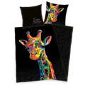 Herding Saténové povlečení Bureau Artistique - Colored Giraffe, 140 x 200 cm, 70 x 90 cm (885324) - 1