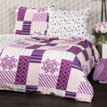 4Home Krepové povlečení Patchwork violet, 140 x 220 cm, 70 x 90 cm (890131) - 1