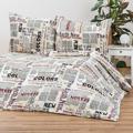 Povlečení Mikroplyš Newspaper, 140 x 200 cm, 70 x 90 cm (892670) - 1