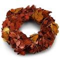 Podzimní věnec Billet hnědá, pr. 25 cm (891508) - 1