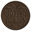 Benco Gumový nášlap na zahradu Motýl, hnědá (886509) - 1