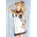 Dámská saténová košilka Mexico bílá (43141) - 3