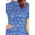 Vzorované šaty s polorolákem a krátkými rukávy MM 011-1 (480693) - 5