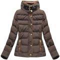 Hnědá dámská zimní bunda s kapucí (WZ6636) (849401) - 1