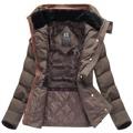 Hnědá dámská zimní bunda s kapucí (WZ6636) (849401) - 4