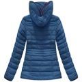 Tmavě modrá dámská zimní bunda s brýlemi (CX582W) (849508) - 3
