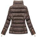 Hnědá dámská zimní bunda s kapucí (WZ6636) (849401) - 5