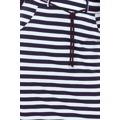 127-5 Bílo-tmavě modrá proužkovaná sukně s kapsami (528144) - 5