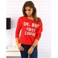 Červená halenka First Coffee (ry0170) - Best Look (551589) - 1