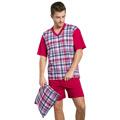 Pánské pyžamo Roman bordó krátké nadměrná velikost (465402) - 1