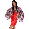 Saténové šaty s rukávem (63421) - 1