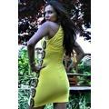 Mini šaty s průstřihy a korálky (25795) - 2