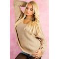 Dámský svetr pletený (26203) - 2