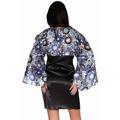 Saténové šaty s rukávem (63424) - 3