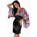 Saténové šaty s rukávem (63422) - 2