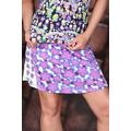 Mini sukně na léto s květinkami - Fialová (25730) - 2