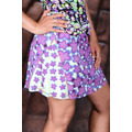 Mini sukně na léto s květinkami - Fialová (25730) - 1