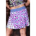 Mini sukně na léto s květinkami - Fialová (25730) - 3