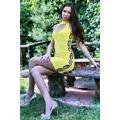 Mini šaty s průstřihy a korálky (25795) - 1
