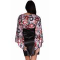 Saténové šaty s rukávem (63422) - 3