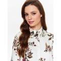 Top Secret Košile dámská bílá s květinami a dlouhým rukávem (565173) - 5