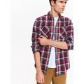 Top Secret Košile pánská kostkovaná dlouhým rukávem (514741) - 5