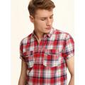 Top Secret Košile pánská červená s proužkem a krátkým rukávem (449107) - 2
